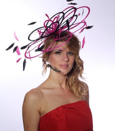 Large New Taupe Nude Lillypad Saucer Disc Fascinator hat choose any colours
