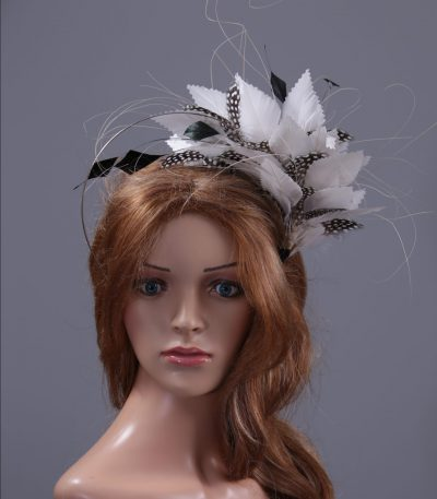 ivory and black mount on a halo crown